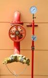 De sproeier van het water en brandbestrijdingssysteem Royalty-vrije Stock Fotografie