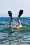 De sprong van de duiker aan whater royalty-vrije stock afbeelding