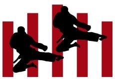 De sprong van de karate Royalty-vrije Illustratie