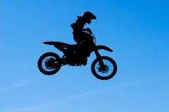 De sprong van de motocross stock afbeelding
