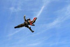 De sprong van de motorfiets Stock Foto