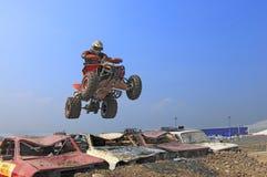 De sprong van de vierling Stock Fotografie