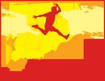 De Sprong van de zonsondergang Royalty-vrije Illustratie