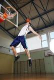 De sprong van het basketbal Stock Fotografie