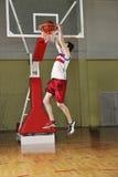 De sprong van het basketbal Royalty-vrije Stock Afbeelding