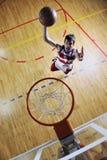 De sprong van het basketbal Stock Foto