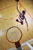 De sprong van het basketbal Royalty-vrije Stock Foto