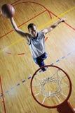 De sprong van het basketbal Royalty-vrije Stock Foto's