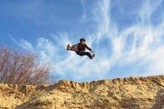 De sprong van het open-been van zand Royalty-vrije Stock Afbeelding
