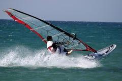 De sprong van Windsurfers. Vrije slag Royalty-vrije Stock Fotografie