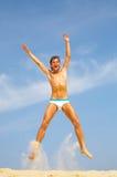 De sprongen van de mens Royalty-vrije Stock Foto's