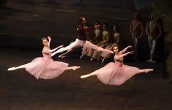 De sprongen van Sigfrido met meisje twee Royalty-vrije Stock Afbeelding