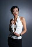De spruit van de manier van een vrouw in een mooie kleding Stock Fotografie