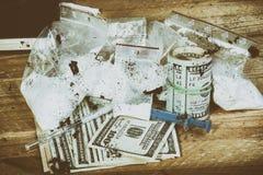De spuit van de drug en gekookte heroïne Royalty-vrije Stock Fotografie