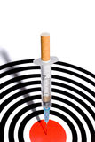 De spuit van de sigaret in doel Stock Afbeeldingen