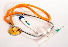 De spuitthermometer van de stethoscoop Stock Fotografie