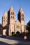 De St. Leger kerk in Guebwiller stad, Frankrijk Royalty-vrije Stock Fotografie