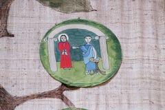 de 1st Posten van het Kruis, Jesus wordt veroordeeld aan dood Royalty-vrije Stock Foto's