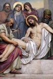 de 1st Posten van het Kruis, Jesus wordt veroordeeld aan dood royalty-vrije stock fotografie