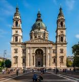 De St Stephen Basiliek in Boedapest royalty-vrije stock foto