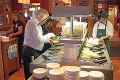 De Staaf van de salade Stock Foto's