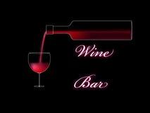 De staafaffiche van de wijn vector illustratie