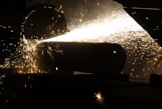 De staafbesnoeiing van het titanium Stock Foto's