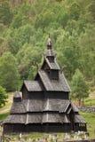 De staafkerk van Borgund Stock Foto's