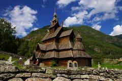 De staafkerk van Borgund in Noorwegen Royalty-vrije Stock Afbeelding