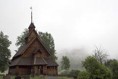 De staafkerk van Eidsborg (stavkirke) stock fotografie