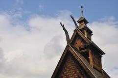 De staafkerk van Gol in het museum Oslo van Mensen Royalty-vrije Stock Foto's