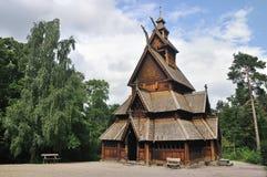 De staafkerk van Gol in het museum Oslo van Mensen Royalty-vrije Stock Fotografie