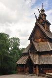 De staafkerk van Gol in het museum Oslo van Mensen Royalty-vrije Stock Afbeelding