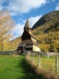 De staafkerk van Urnes Stock Foto