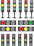 De staafseinpaal van het verkeerslicht & van de status Stock Foto's