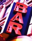 De staafteken van het neon Royalty-vrije Stock Foto's