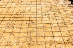 De staalbar treft voor het aanleggen van de weg of de rijweg voorbereidingen E royalty-vrije stock afbeelding