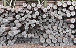 De staalstaaf in fabriekspakhuis Stock Foto's