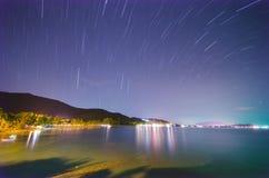 De staart van de ster op het strand Royalty-vrije Stock Afbeeldingen
