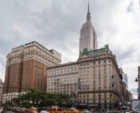 De Staat die van het imperium New York bouwt Stock Foto