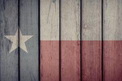 De Staat Texas Flag Wooden Fence van de V.S. royalty-vrije stock foto