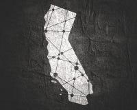 De Staat van Californië door provincies stock illustratie
