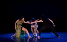 De staat van confrontatie 4-handeling 2: Dromenland van de driehoeks het relatie-moderne Dans stock foto