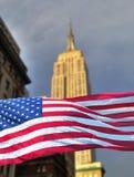 De staat van het imperium met vlag Stock Foto