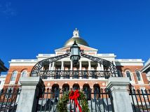 De Staat van Massachusetts House& x27; s poort in Boston stock afbeelding