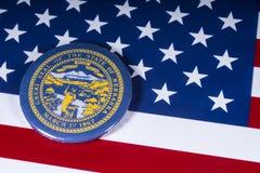 De Staat van Nebraska in de V.S. royalty-vrije stock afbeeldingen