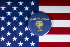De Staat van Oregon in de V.S. royalty-vrije stock afbeeldingen