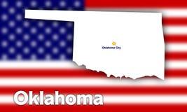 De staatscontour van Oklahoma Stock Afbeelding