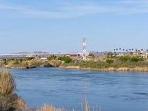 De staatsgrens van Arizona en van Californië Royalty-vrije Stock Fotografie