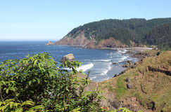 De staatspark van Ecola, de kust van Oregon & Vreedzame oceaan. Royalty-vrije Stock Foto's